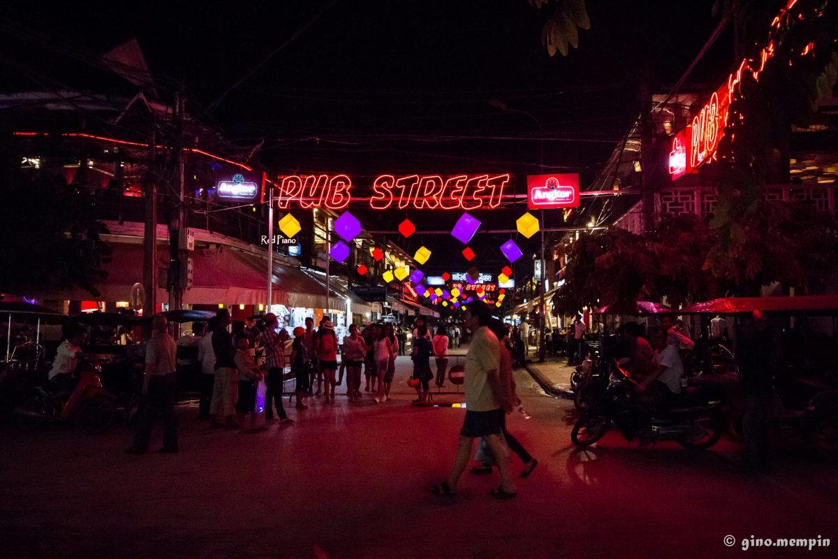 The bustling nightlife on Pub Street, Siem Reap, Cambodia