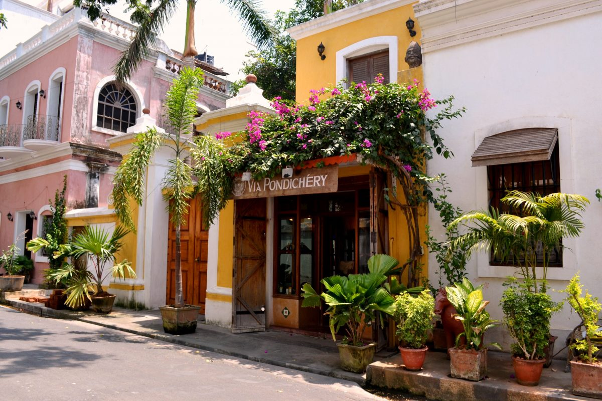 puducherry-French-streets-weekend getaways from Bangalore