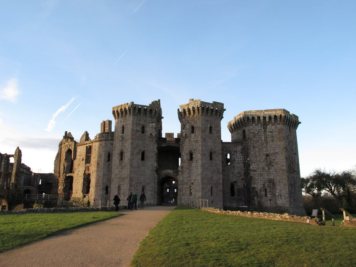 One of the last true medieval castles built in Wales, Raglan Castle is located in the county of Gwent.