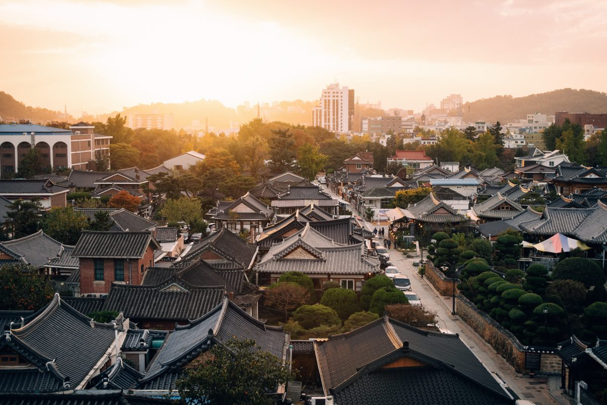 Jeonju sunset city