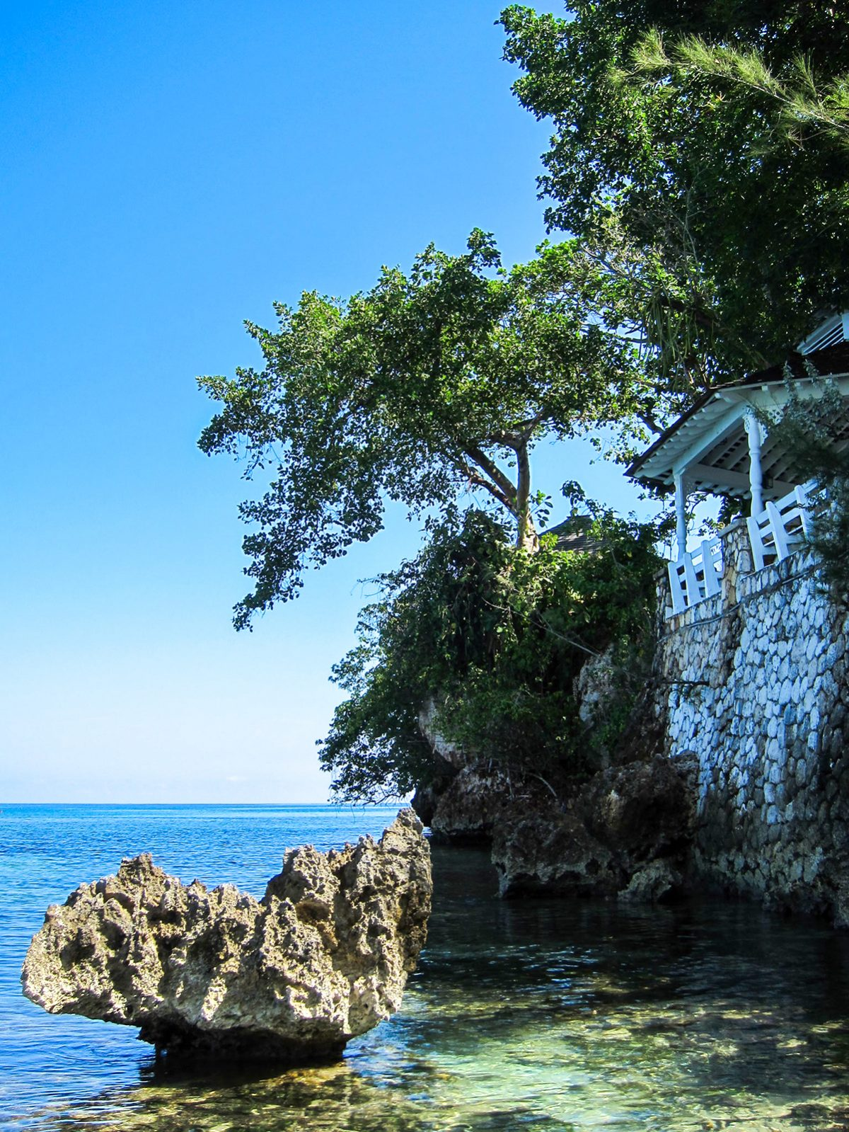 Couples San Souci, Nude Beach, Rock, Trees, Villa, Sea