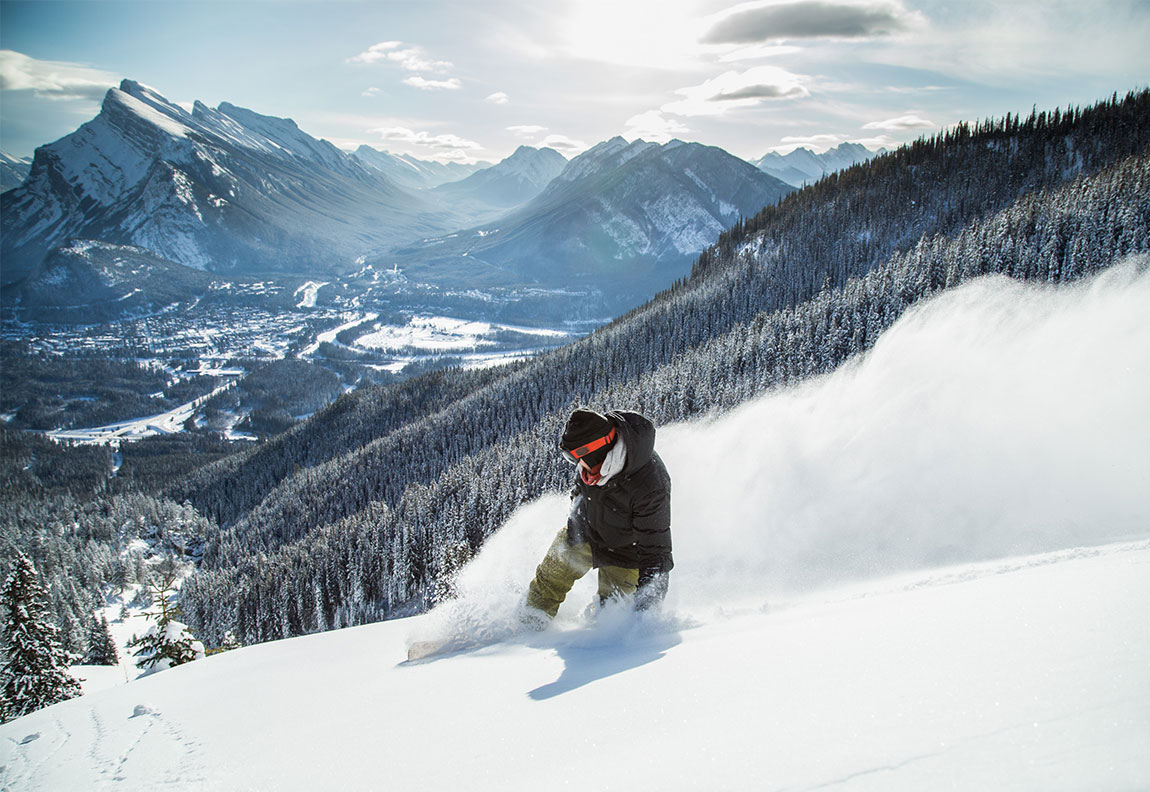 Skiing at Mount Norquay Ski Resort