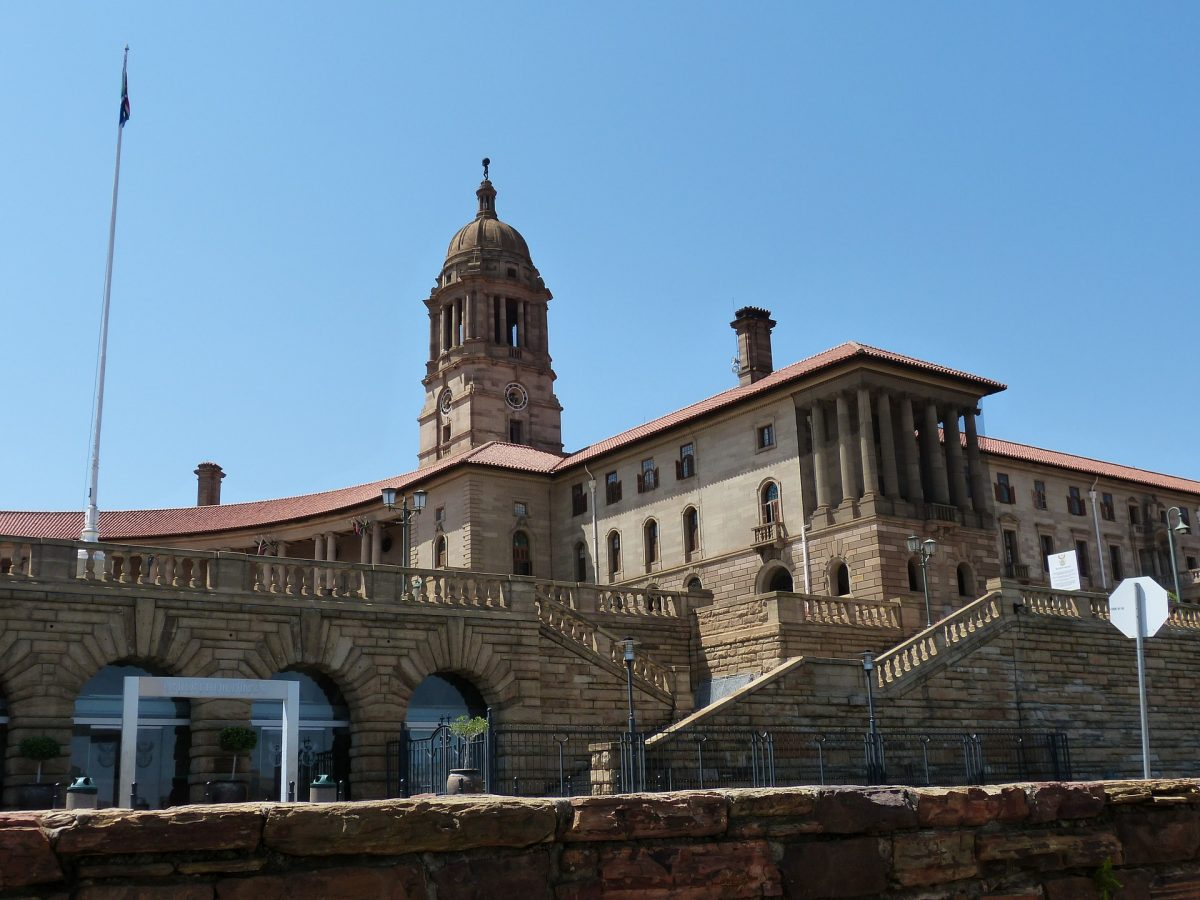 photo of the historical building at the Pretoria capital