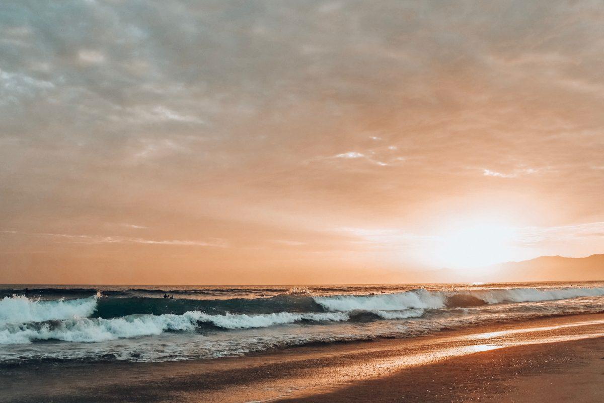 Venice beach during sunset, los angeles