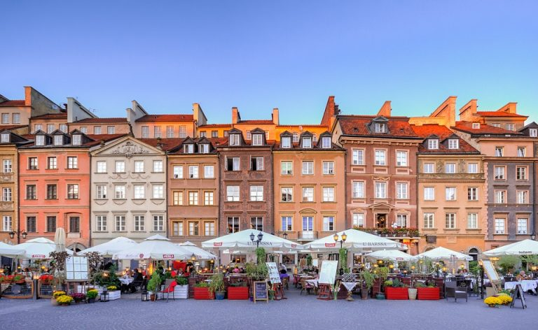 Colourful Old Town, Warsaw