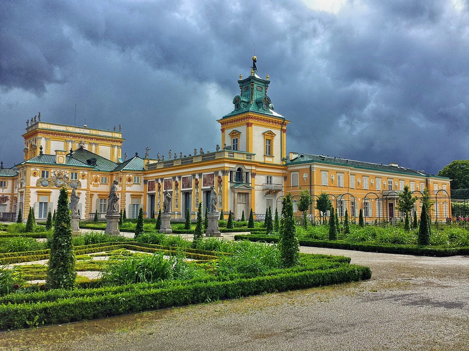 Wilanow Castle in Warsaw