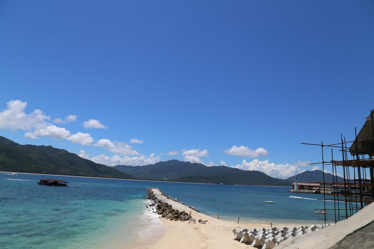 Boundary Island is a tropical island off the coast of Hainan in Lingshui County.