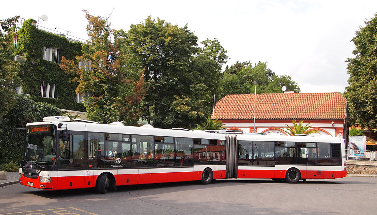 A bus in prague