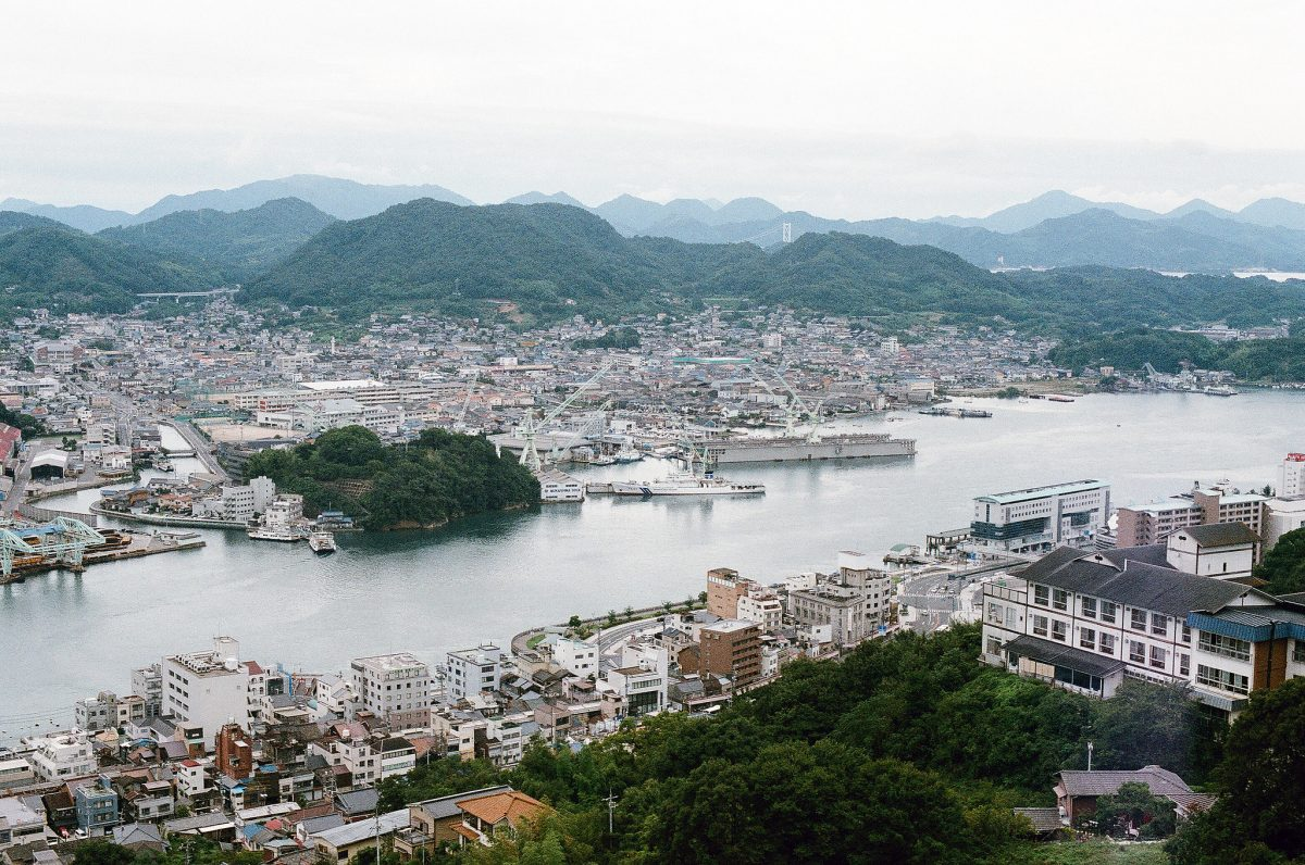 Onomichi is a historical town in the Hiroshima prefecture located on the coast of the Seto Inland Sea.