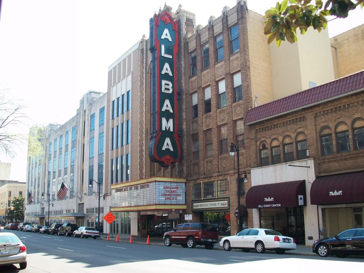 The Alabama Theatre was first built in 1927 by Paramount studios to showcase their films to audiences in Alabama.