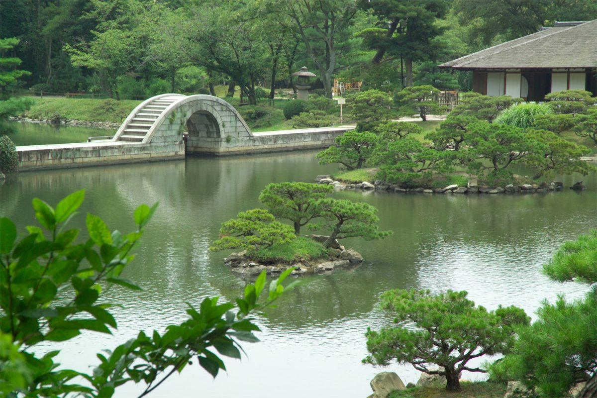 Shukkei-en Garden is a traditional Japanese garden nestled in the middle of downtown Hiroshima.