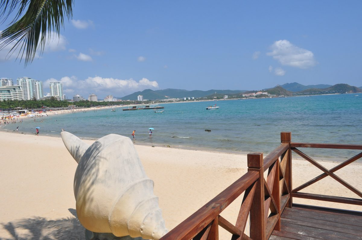 Dadonghai Beach is arguably the most famous beach in Hainan.