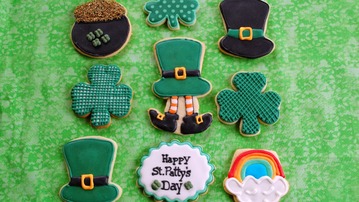 Irish cookies, St Patrick's Day cookies, Irish desserts