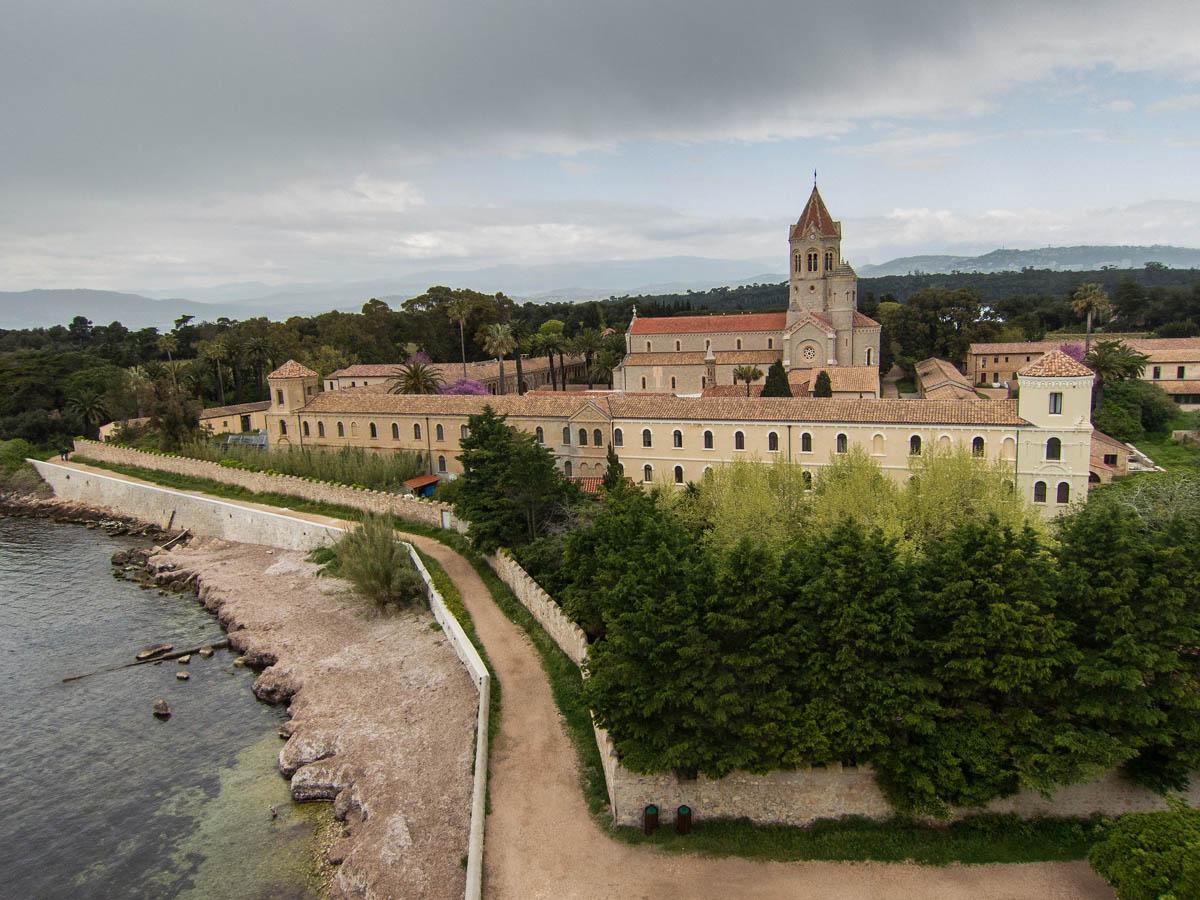 The Abbey Lérins on Île Saint-Honorat