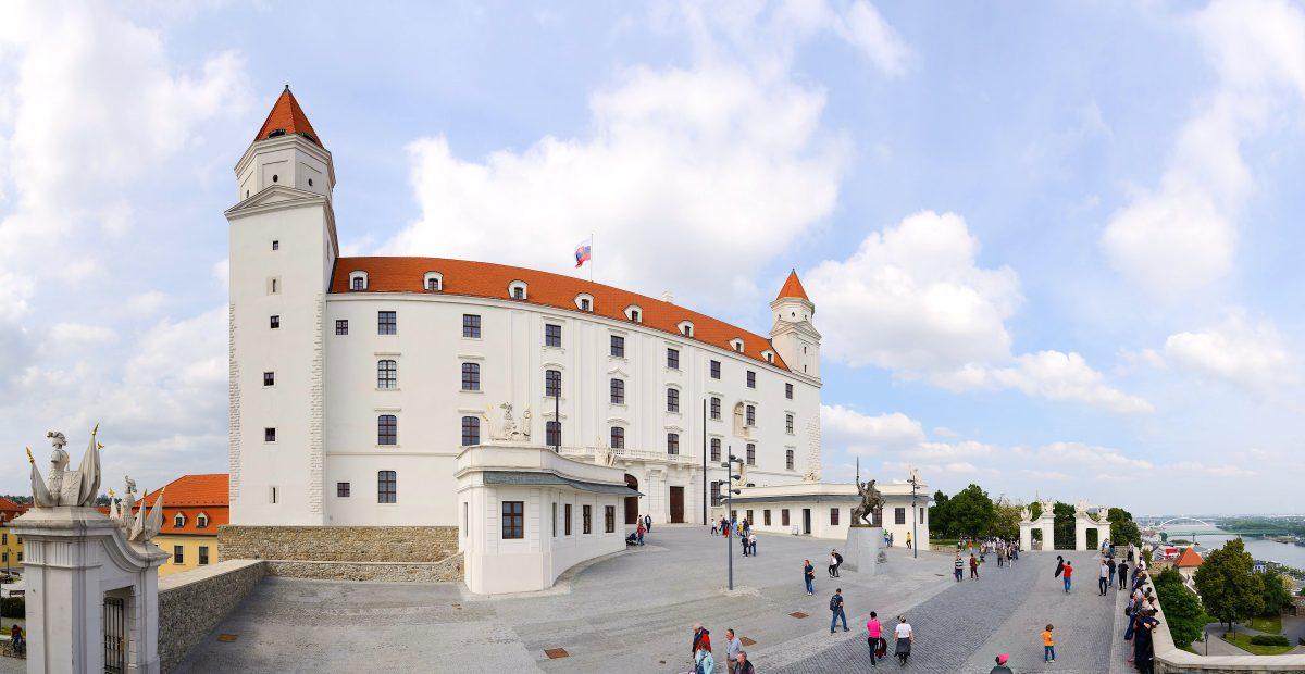 Panoramic view of Bratislava Castle in Slovakia