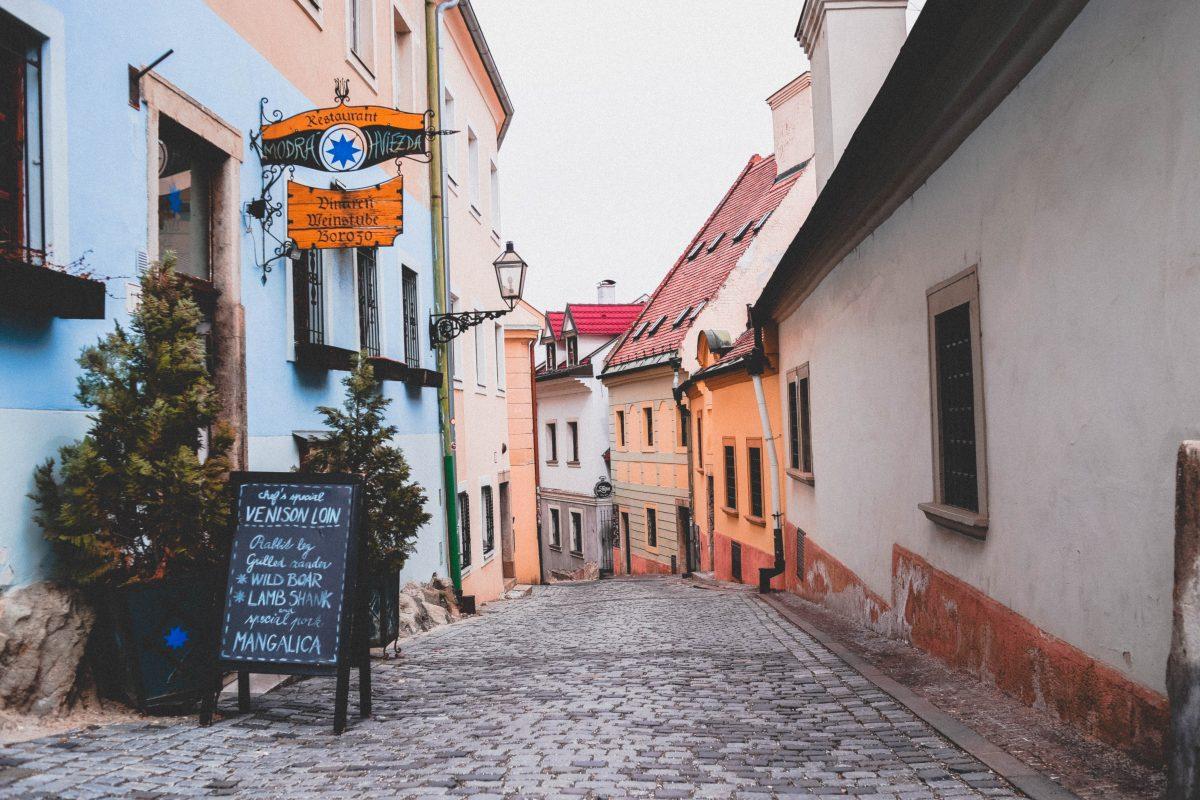 Bratislava hidden cobbled-stone alleyways