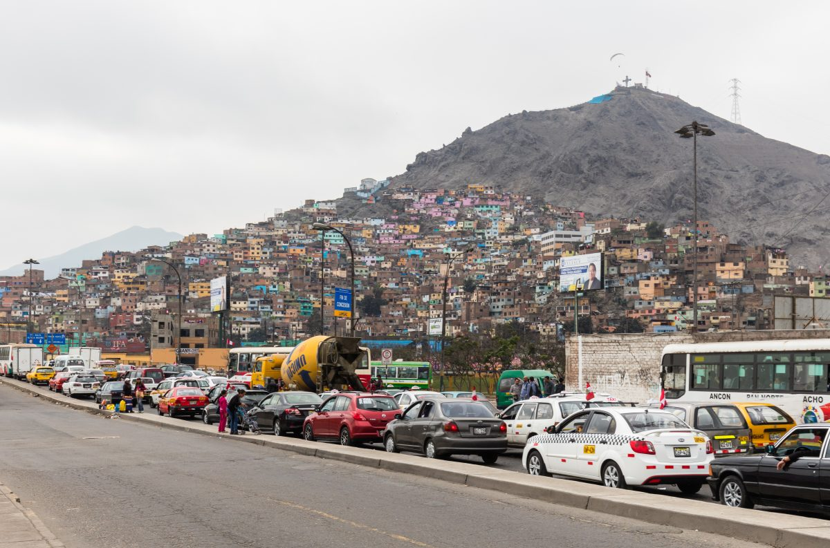 San Cristobal's Hill rises 300 meters above sea level and offers the best views of Lima and its cliffy coast.