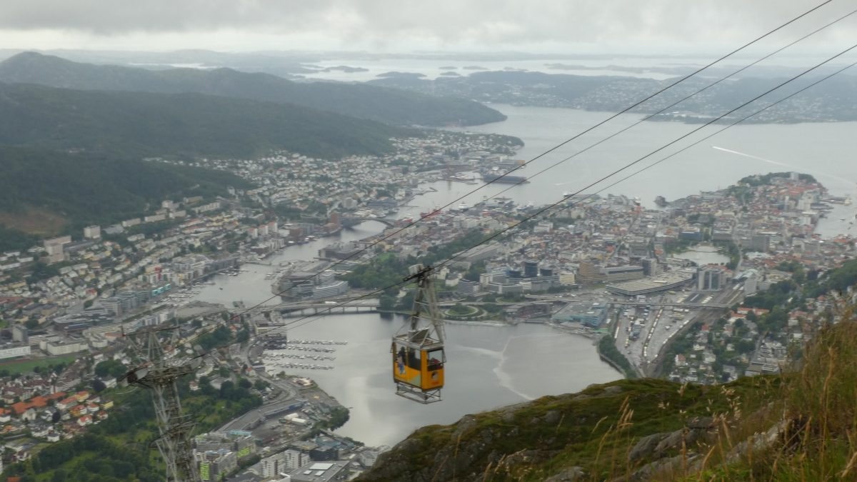 cable car, mountain, hordaland