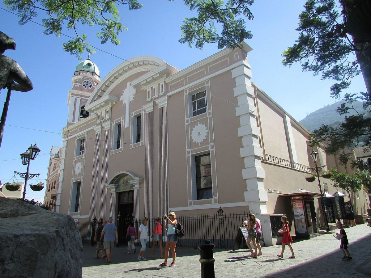 The Cathedral of St Mary the Crowned is the only Roman Catholic Cathedral in Gibraltar.
