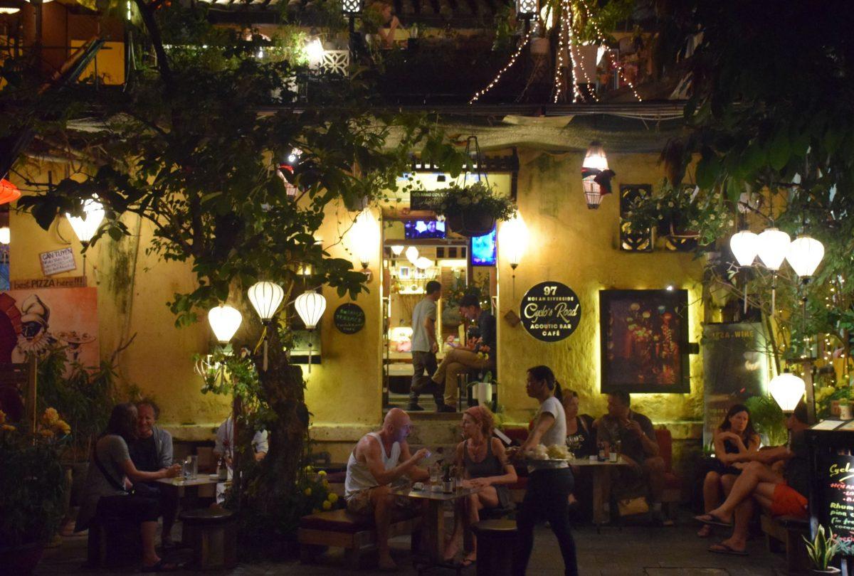 Street side bar in hoi an old street