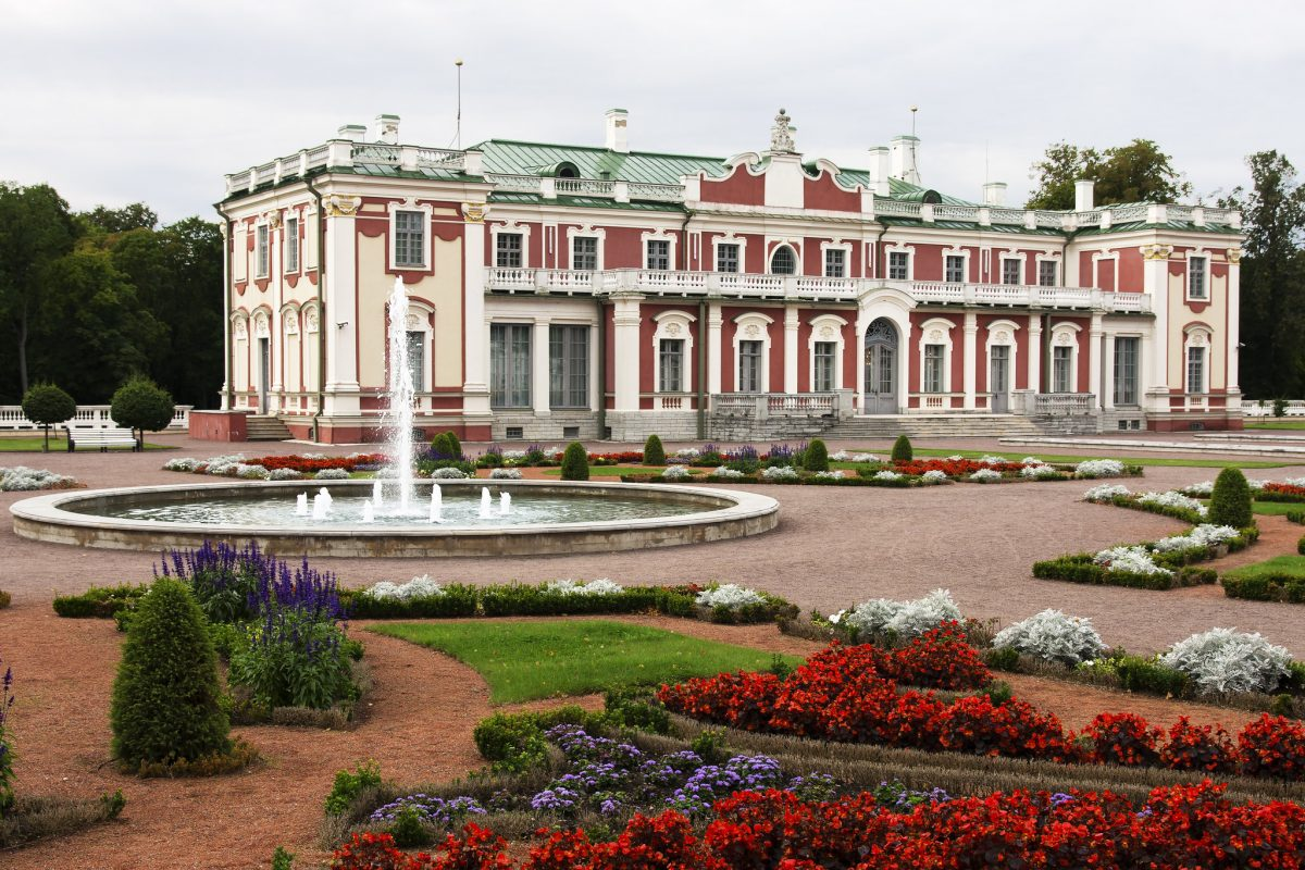 Kadriorg park is home to the Kadriog Palace, an astonishing building that is now a Presidential Palace.
