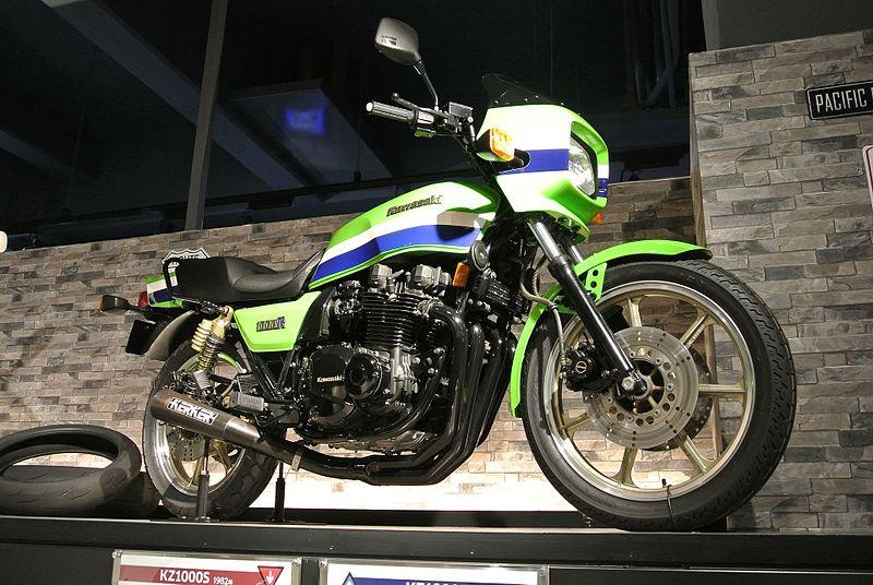 Kawasaki KZ1000R on display at Kawasaki Good Times World by Rainmaker47 for WikiCommons - 15 Things To Do In Kobe, Japan