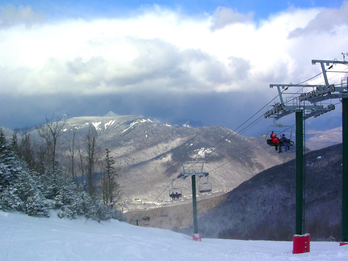 Ski lift in Okemo Mountain Resort Vermont
