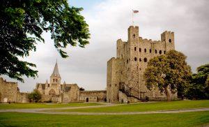 Rochester Castle courtyard, UK