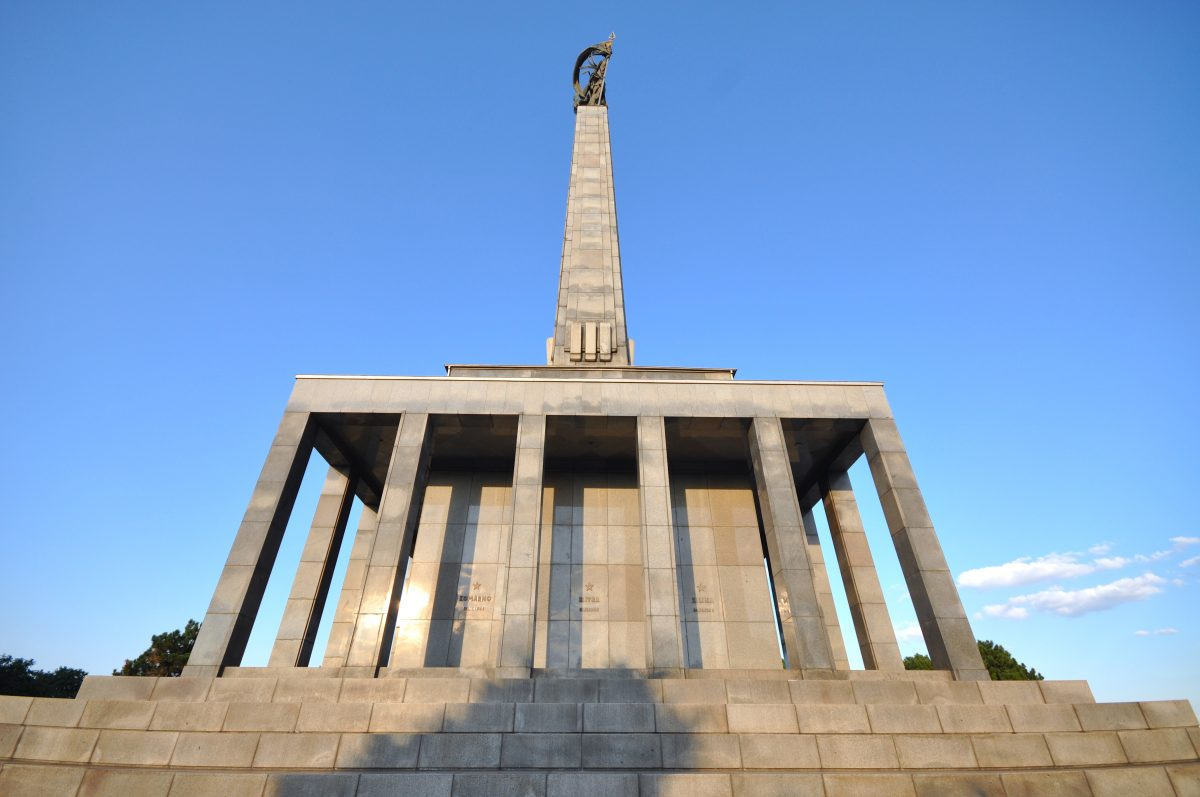Slavín Monument in Bratislava as a burial ground of thousands of Soviet Army soldiers who fell during World War II