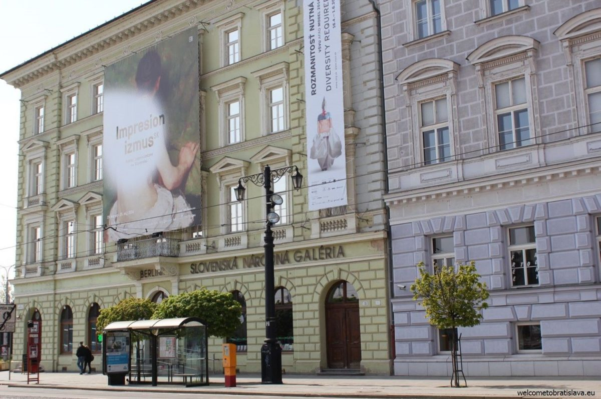 The entrance of Slovak National Gallery in Bratislava