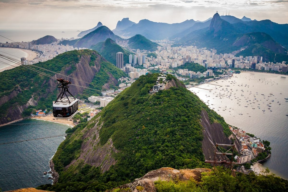 Sugarloaf Mountain is a natural landmark located at the entrance of Rio de Janeiro's bay.