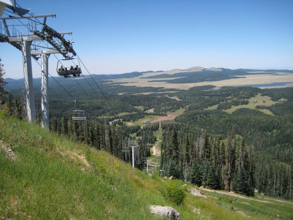 cable car, trees, eagar