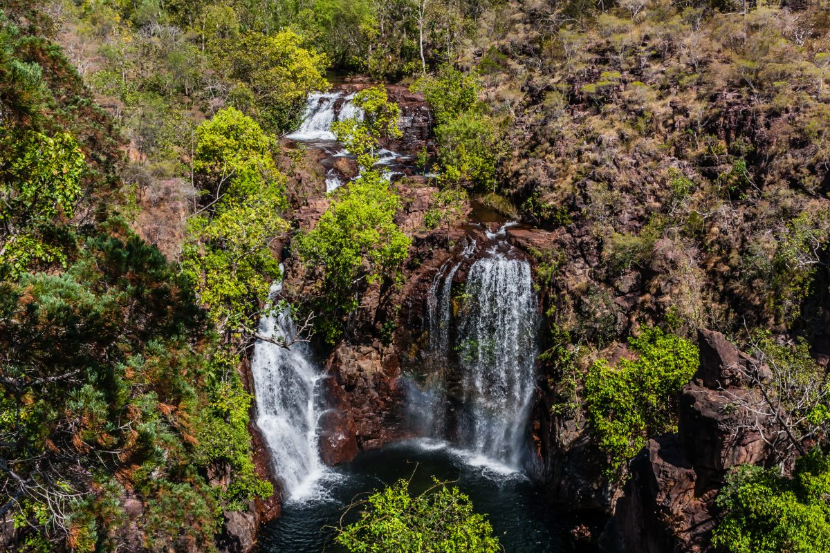 The Florence Falls on the Florence Creek, the Litchfield National Park, Northern Territory, Australia.