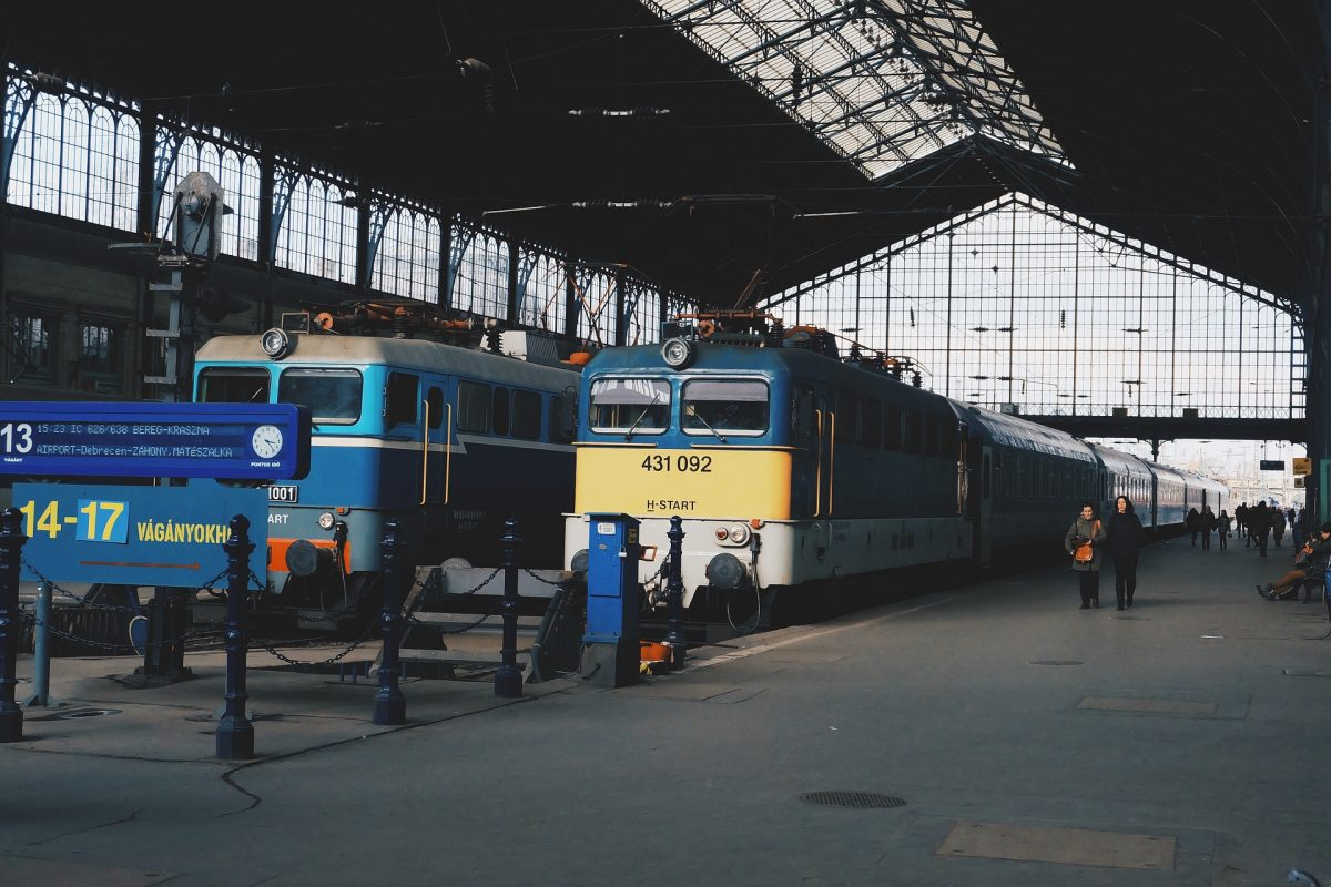 Brastislava central train station to Budapest