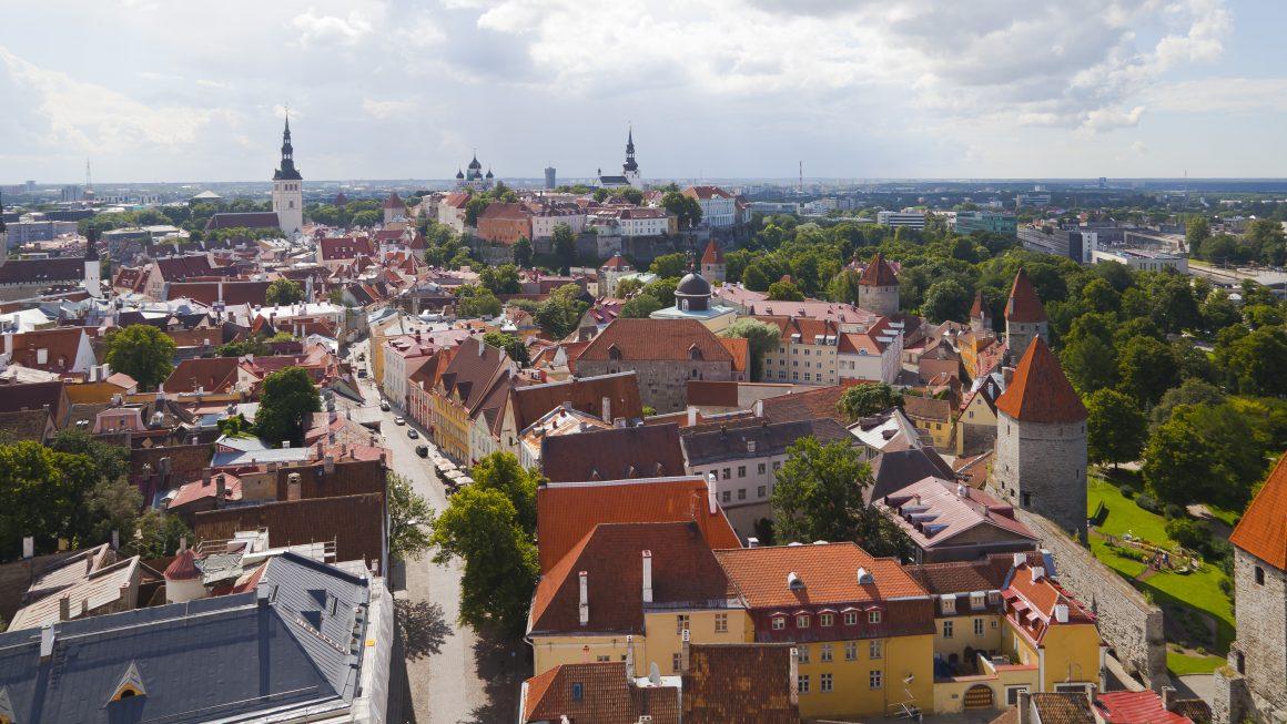 Birds eye view of Tallinn