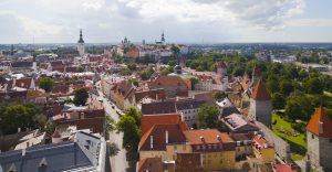 Birds eye view of Tallinn