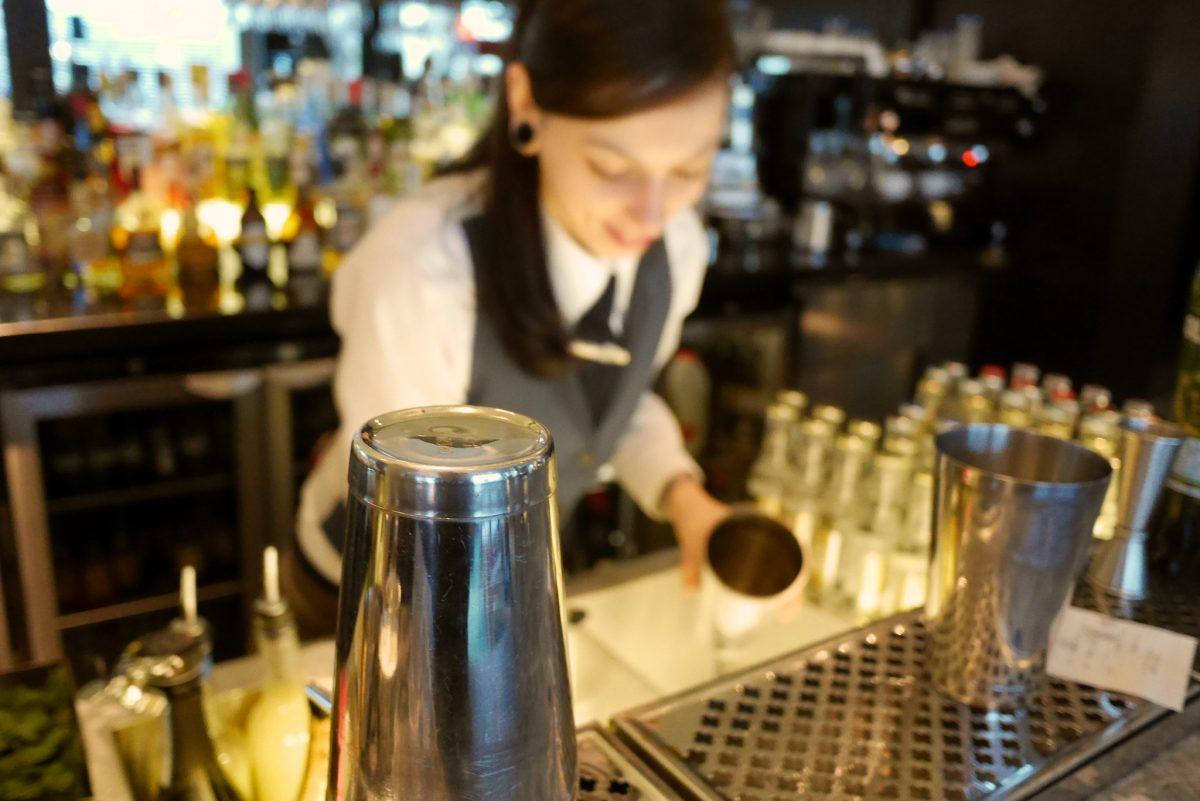 A bartender in London, UK