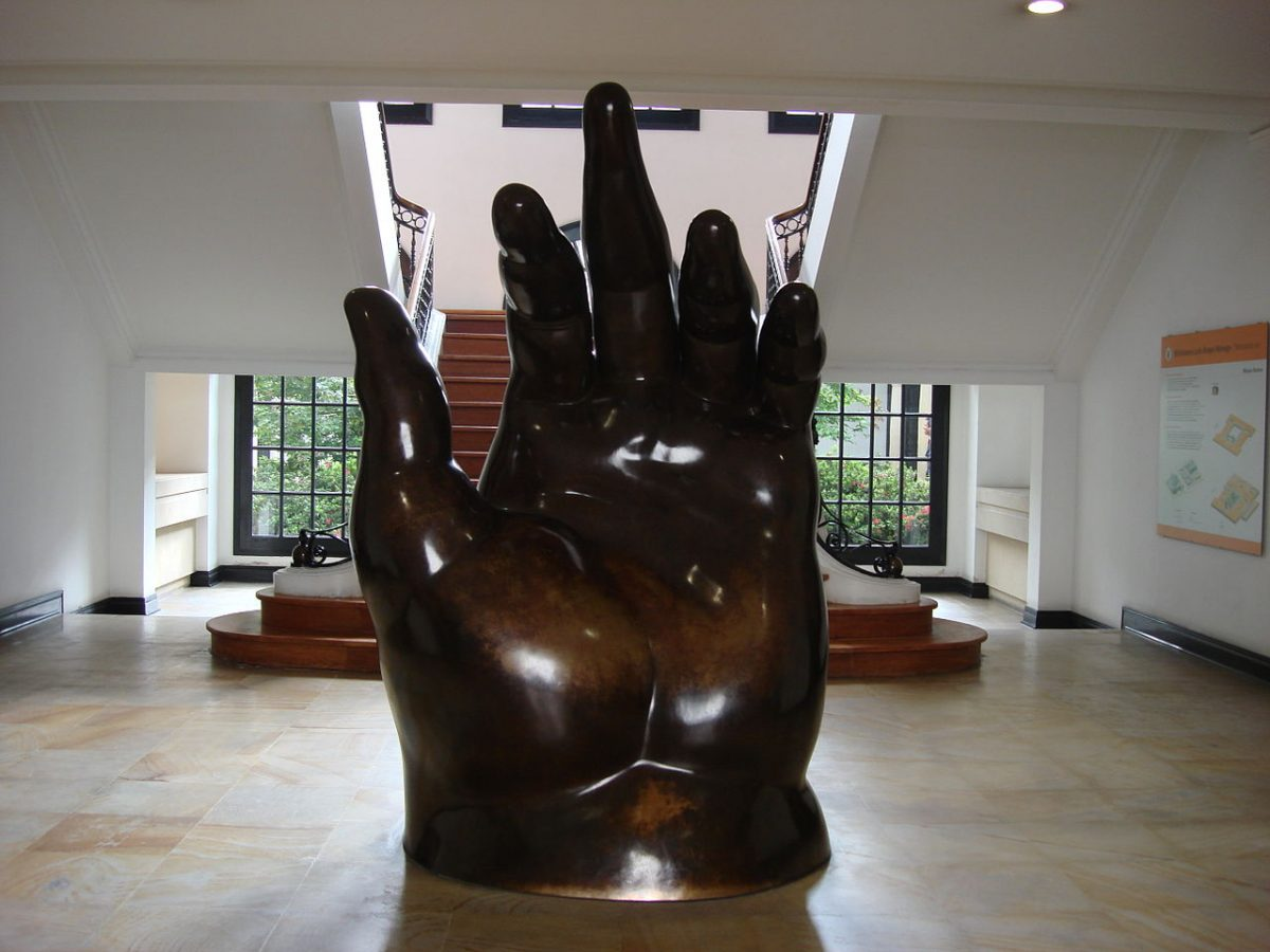 Botero Museum's collection includes paintings, drawings, and sculptures done by Botero during the last 20 years.