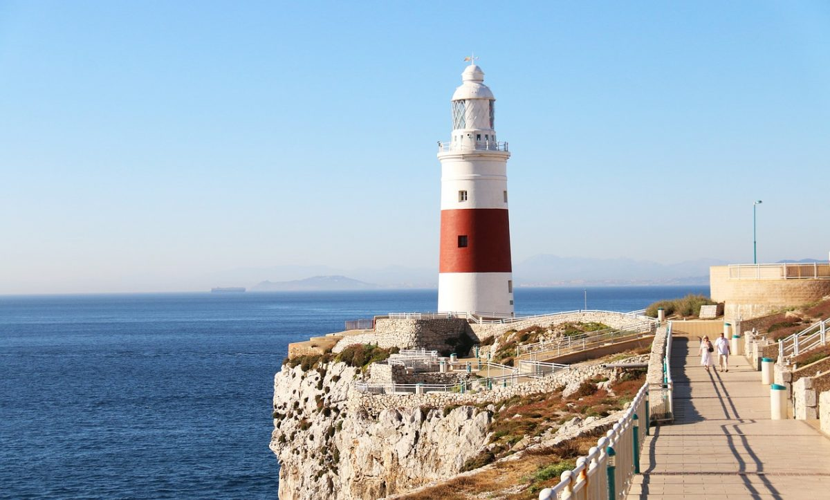 Gibraltar Trinity Lighthouse sits on Europa Point, one of Europe's southernmost points and it is where the Iberian peninsula ends.