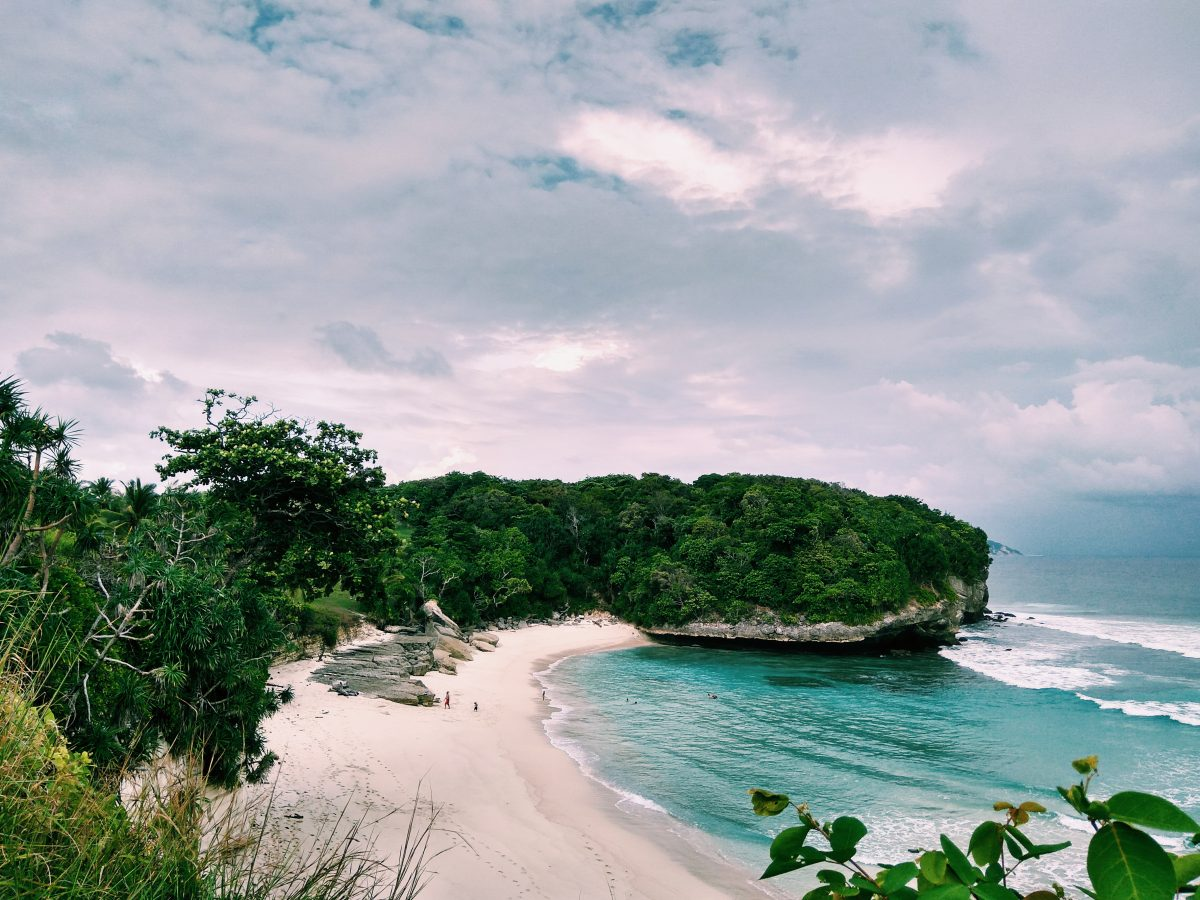 white sand beach in sumba island indonesia