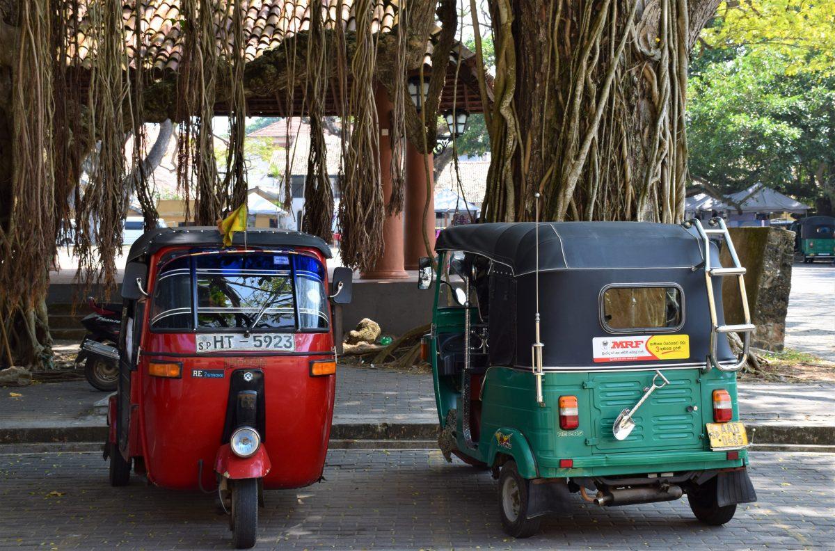 Rickshaw chariots parked