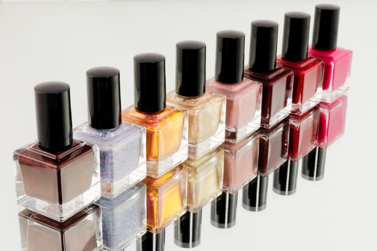 A row of nail polish