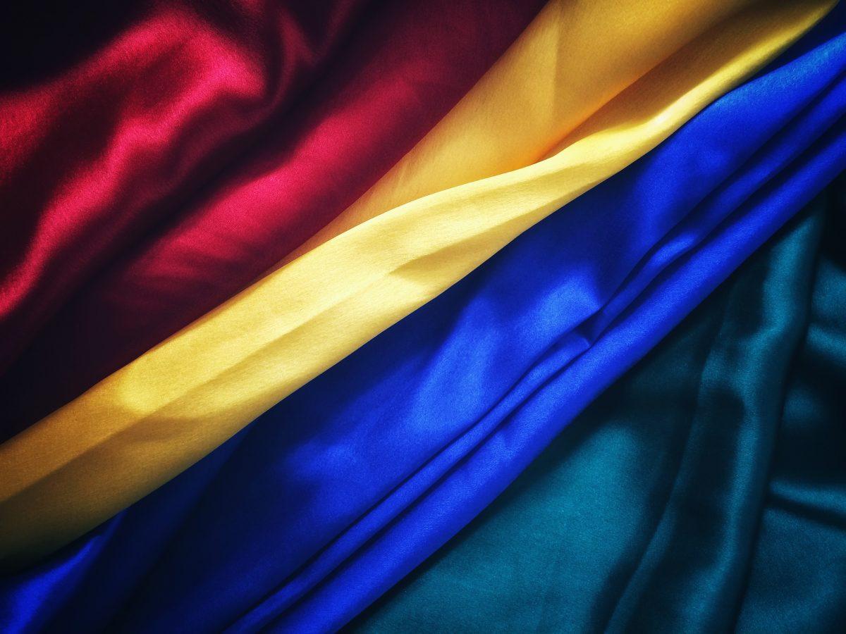 Colorful vietnamese silk