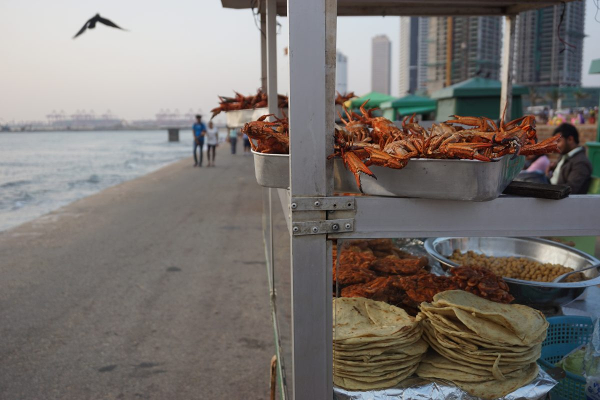 Street foods Galle face green