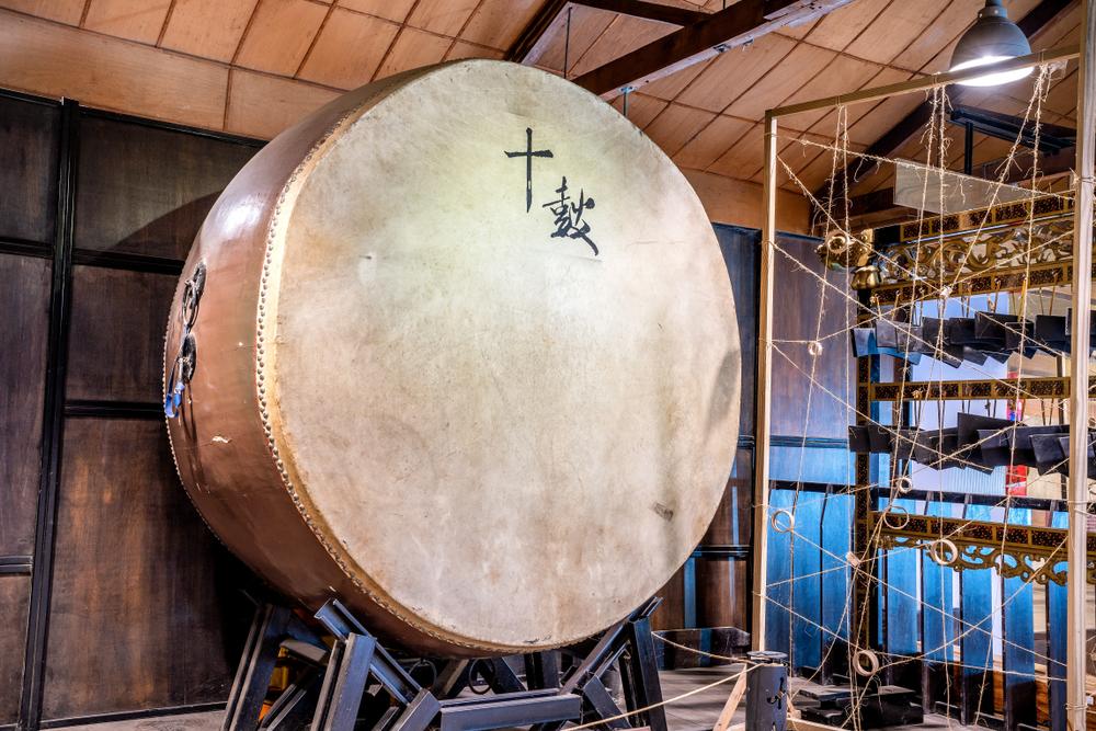 Drumming in Ten Drum Village Tainan
