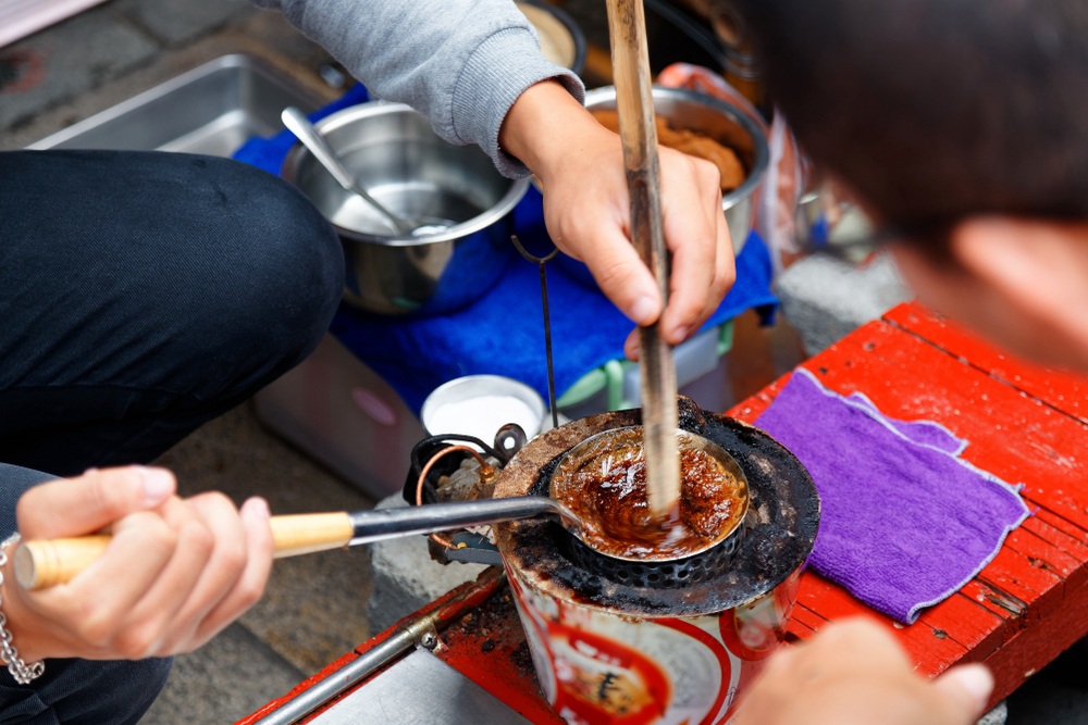 Traditional candy making in An Ping Old Street
