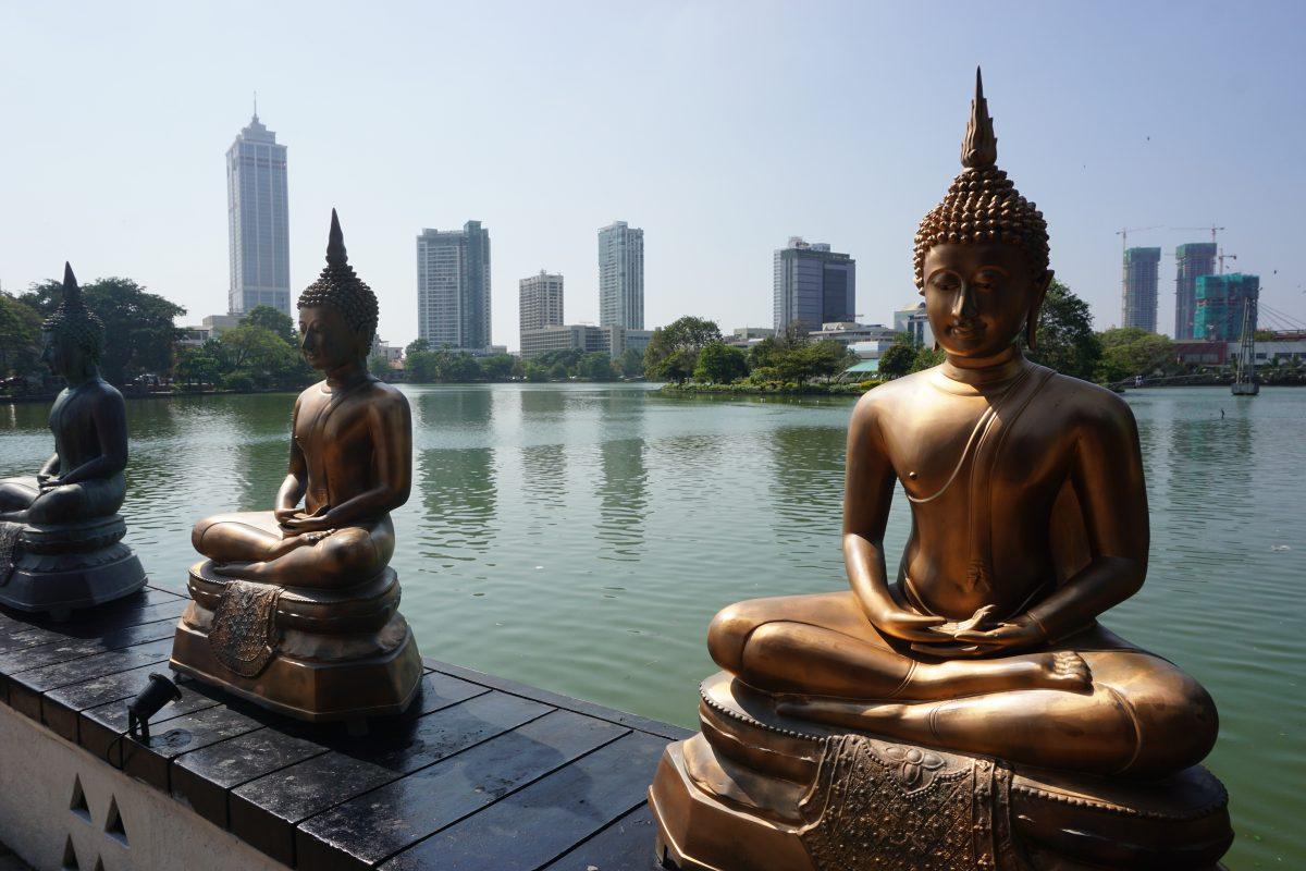 Beira lake with buddha