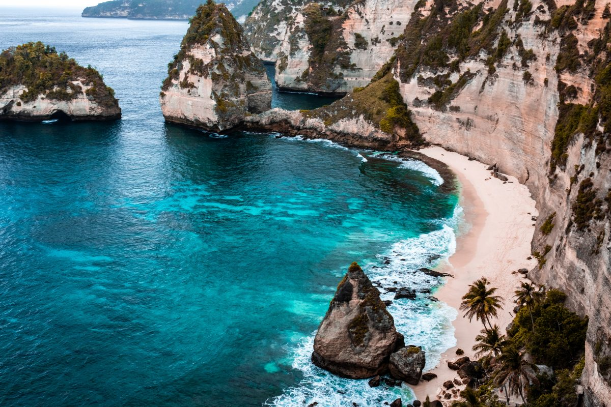gulf of nusa penida island in indonesia