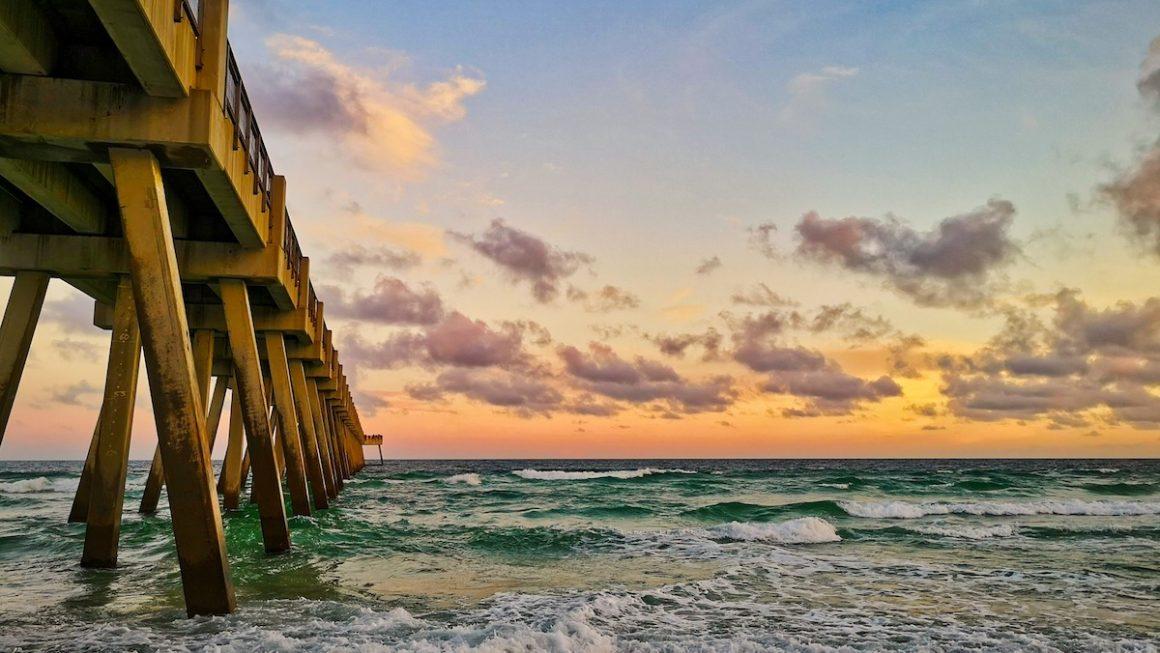 Sunset at Navarre Beach, Florida