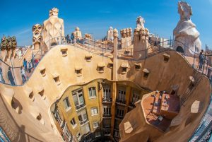a uniquely designed and built building in Gaudi